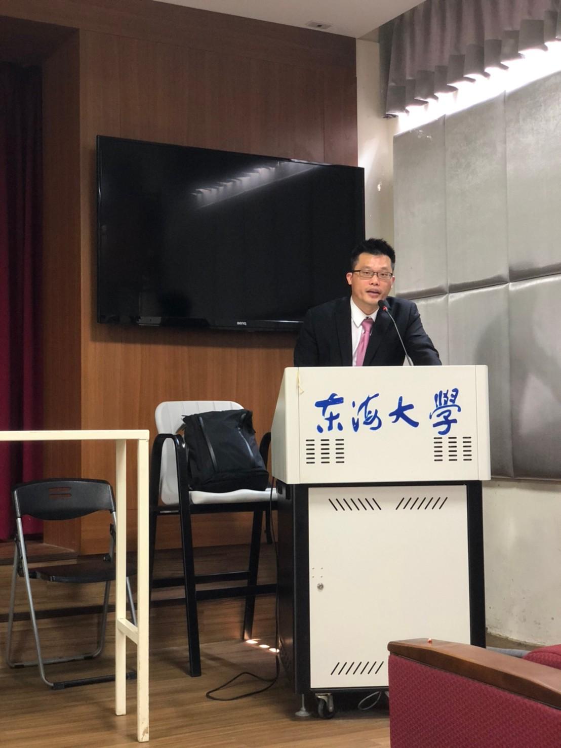 109年5月8日邀請中華經營管理職能發展中心陳育宏經理專題演講職涯規劃、時間管理與科系之就業方向